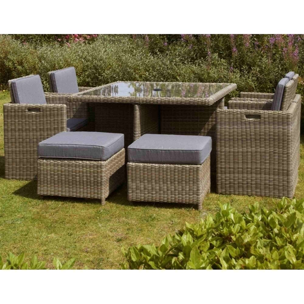 Royalcraft Wentworth 8 Seater Cube Set Garden Street