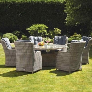 Wentworth Round 6 Seater Dining Set