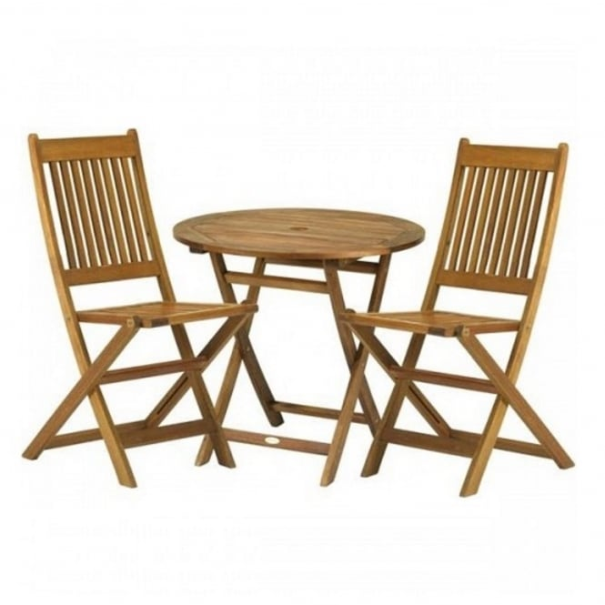 Royalcraft York Bistro Set with Manhattan Folding Chairs