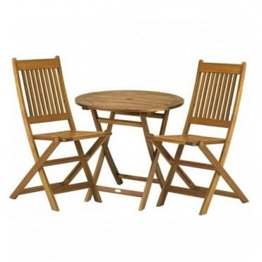 York Bistro Set with Manhattan Folding Chairs