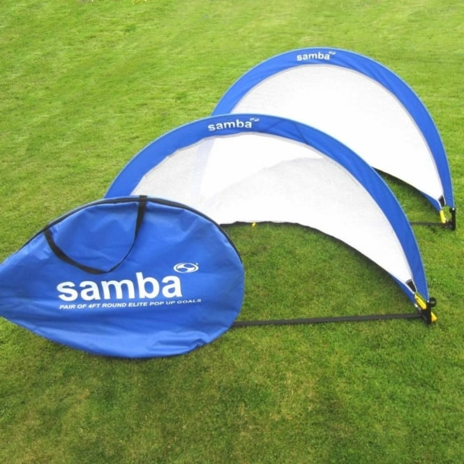 Samba Elite Round Pop Up Goals 4ft - Pair