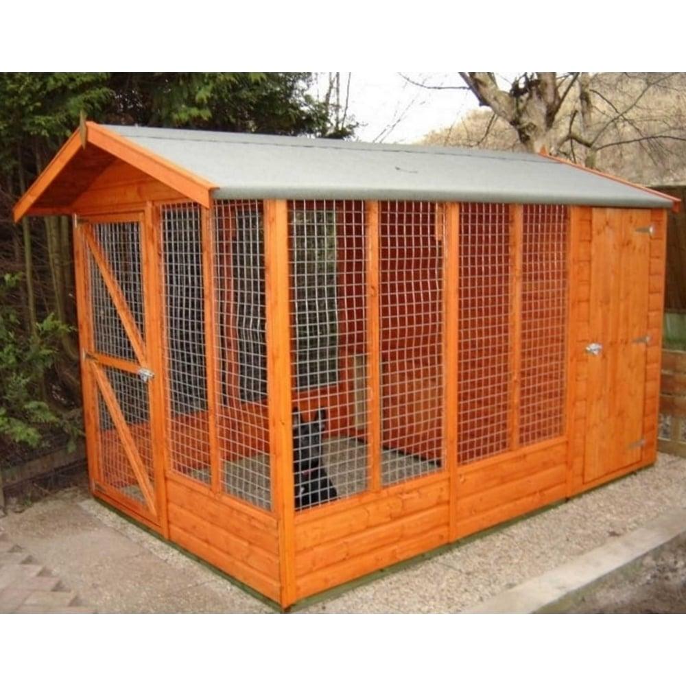 Dog Kennel Enclosures : Shire apex kennel with run garden street