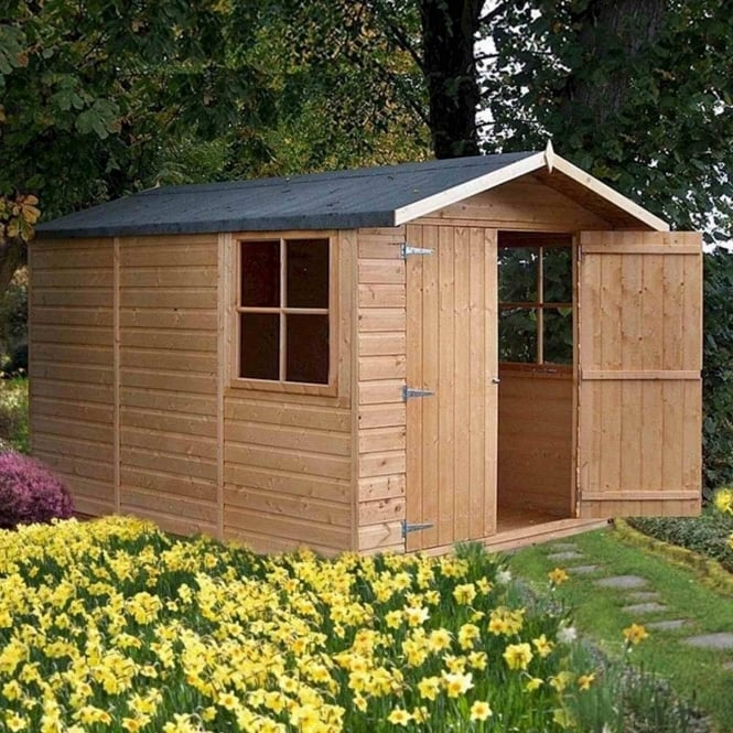 Shire Guernsey Pressure Treated Shiplap Apex Shed 7X10