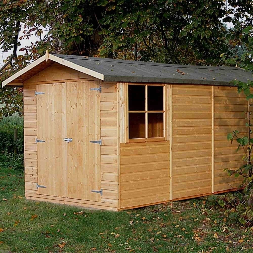 Shire Jersey Pressure Treated Shiplap Apex Shed 7X13 | Garden Street