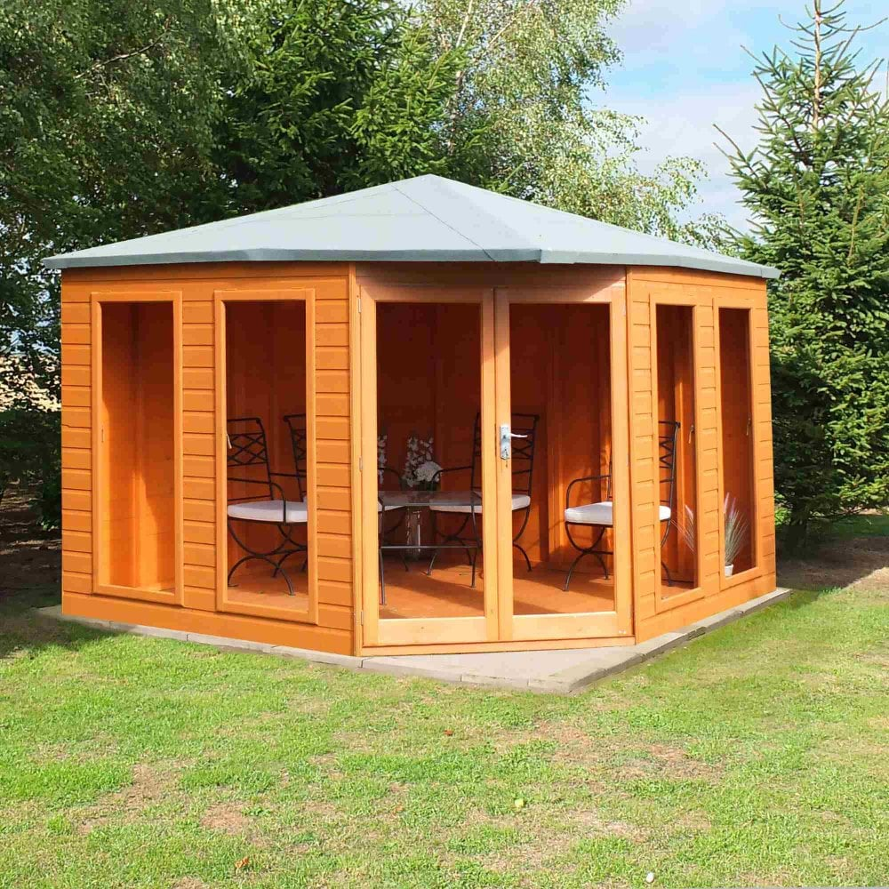 Shire Larkspur Summerhouse 10X10 With Double Windows