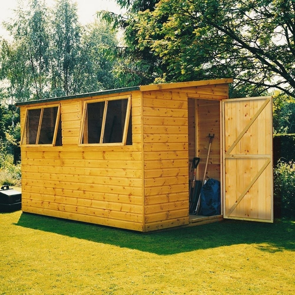Shire Norfolk Lean To Shed 10x6 Garden Street