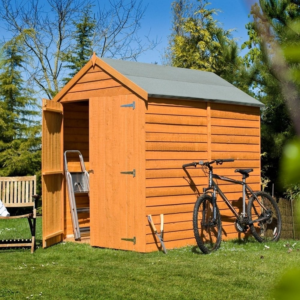 Shire overlap apex double door shed 5x7 garden street for Garden shed 5x7