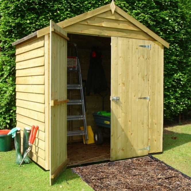 Shire Overlap Apex Pressure Treated Shed 6X4