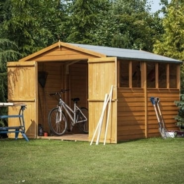 Overlap Apex Shed 6X10