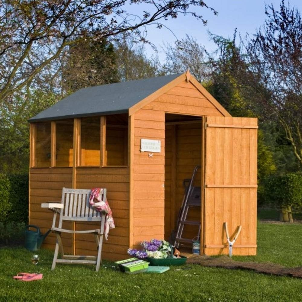 Shire overlap apex single door shed 5x7 garden street for Garden shed 7 x 5
