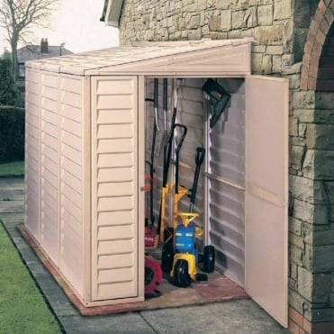 Sidemate Plastic Lean-to Pent Shed 4X8