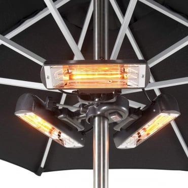 Slimline Super 2400W Infrared Parasol/Tripod Mounted Patio Heater