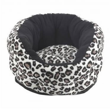 Verona Oval Animal Print Pet Bed