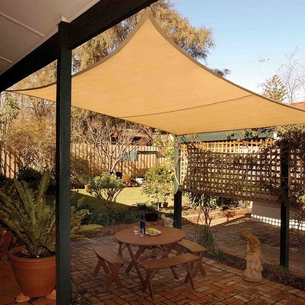 Coolaroo square shade sail garden street for Colorado shade sail