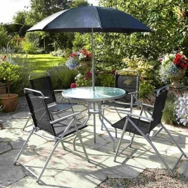 Steel Textilene Mix 4 Seater Dining Set