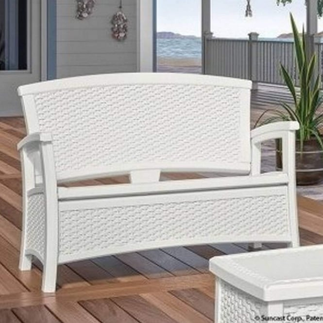 Suncast Elements Love Seat Bench With Storage