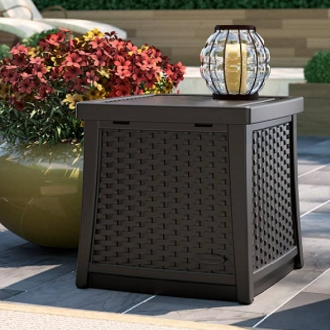 Suncast Elements Side Table With Storage