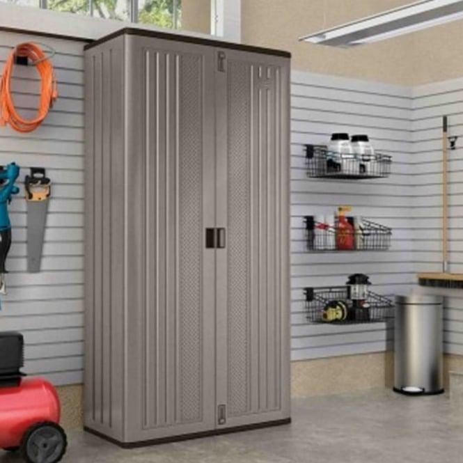 Suncast Mega Tall Garage Cabinet Garden Street
