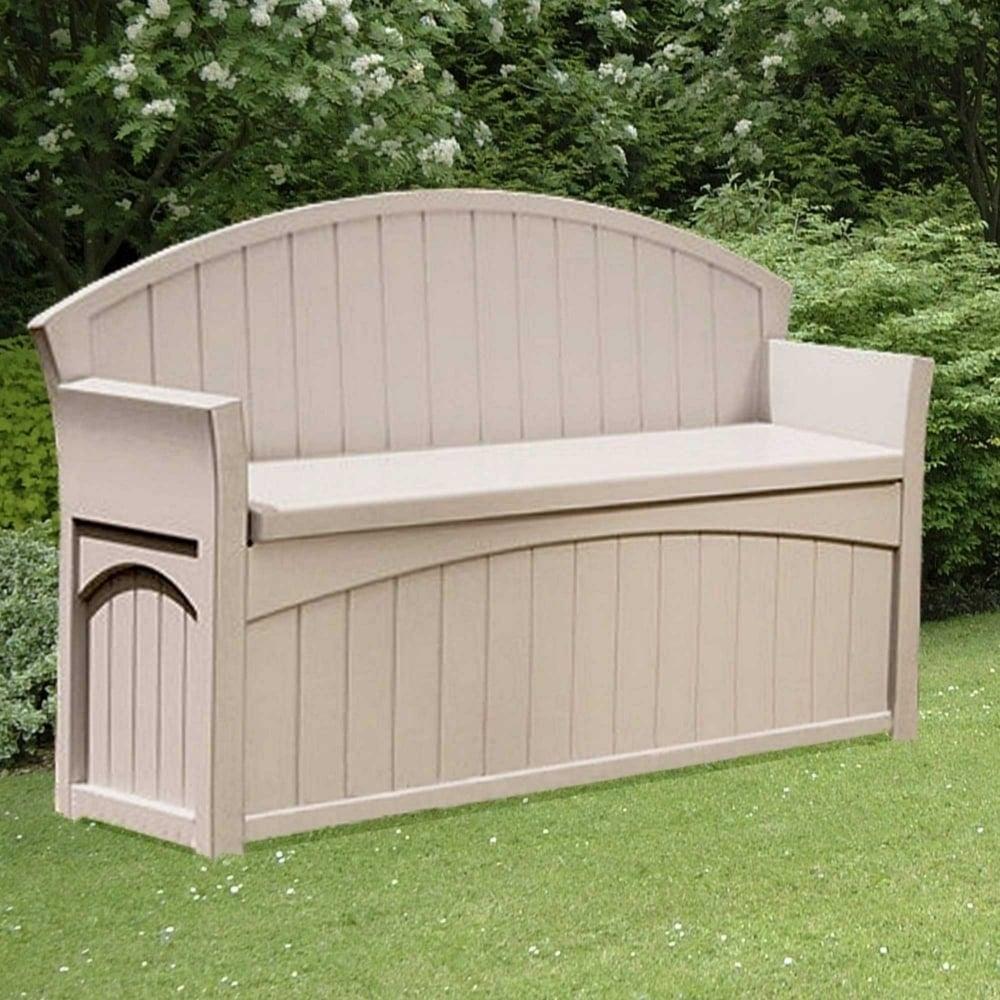 Suncast Patio Storage Bench 189l Garden Street