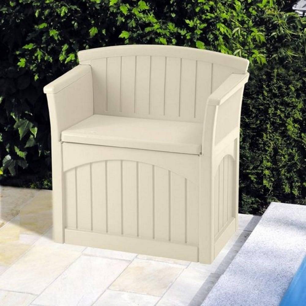 suncast patio storage seat 117l garden street. Black Bedroom Furniture Sets. Home Design Ideas