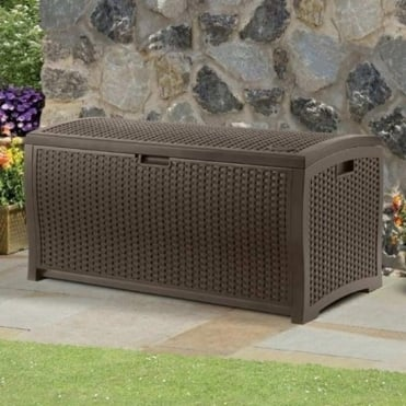 Resin Wicker Deck Box 375L