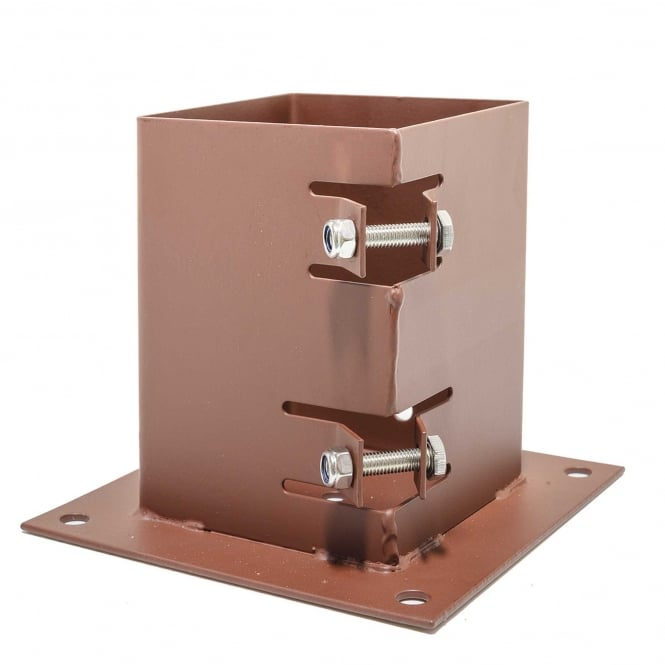 Metpost System 2 Bolt Down Post Support For 100mm Sq. Posts