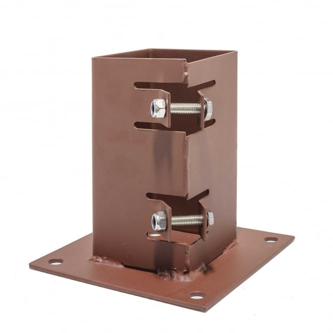 Metpost System 2 Bolt Down Post Support For 75mm Sq. Posts
