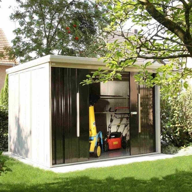 Takubo osaka prestige metal shed 9 5x7 5 garden street for Garden shed 5x7