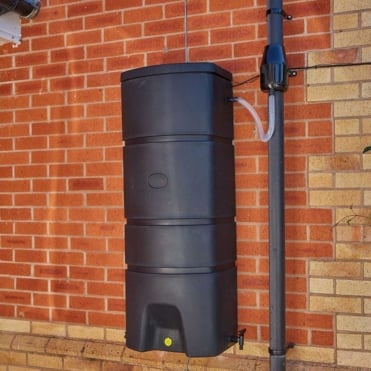 Terracottage Wall Mounted Water Butt 160 Litres Kit