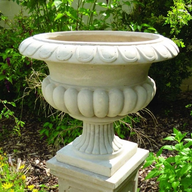 The Garden Feature Company Barkestone Urn - Stone 39cm