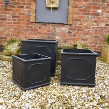 Classic Square Set of 3 Planters