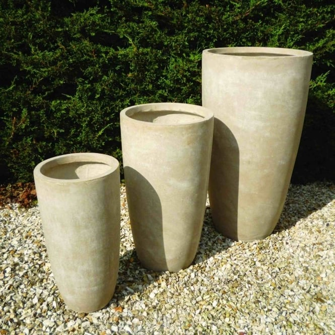 The Garden Feature Company Tall Round Set of 3 Planters