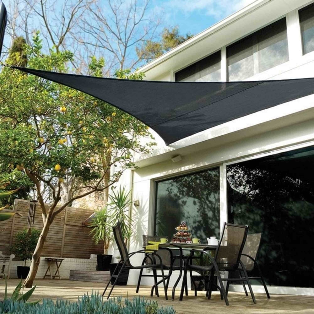 Coolaroo triangular shade sail garden street for Colorado shade sail