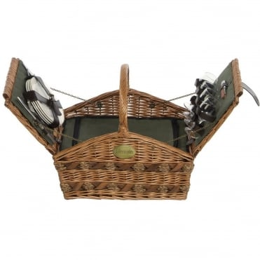 Triangular Willow Picnic Hamper 4 Person