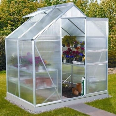 Venus Silver Framed Greenhouse 6X4