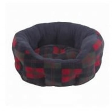 Verona Oval Blue Tartan Pet Bed