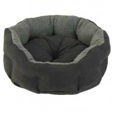 Verona Oval Charcoal Pet Bed