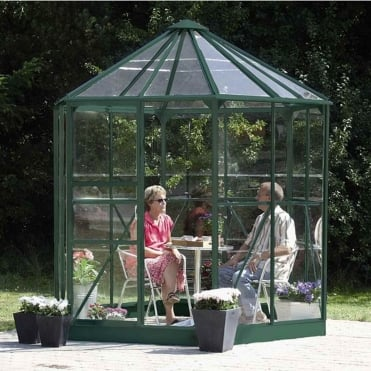 Hera Green Framed Greenhouse 8X7