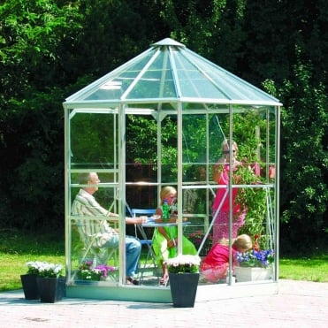Hera Silver Framed Greenhouse 8X7