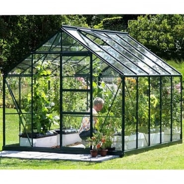 Neptune Green Framed Greenhouse 8X10