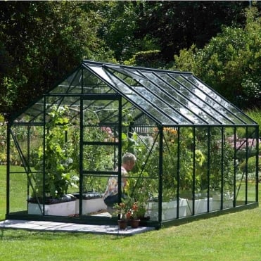 Neptune Green Framed Greenhouse 8X14
