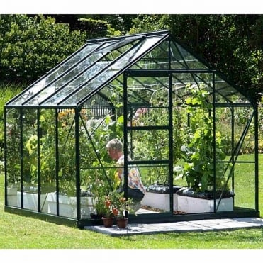 Neptune Green Framed Greenhouse 8X8