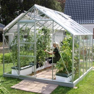 Neptune Silver Framed Greenhouse 8X10