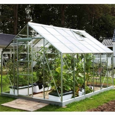 Neptune Silver Framed Greenhouse 8X12
