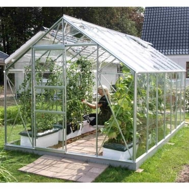 Neptune Silver Framed Greenhouse 8X14
