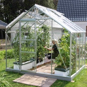 Neptune Silver Framed Greenhouse 8X8