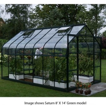 Saturn Green Framed Greenhouse 8X10