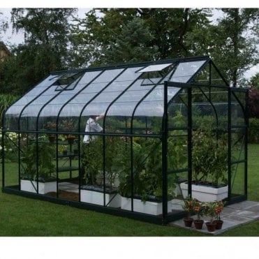 Saturn Green Framed Greenhouse 8X12