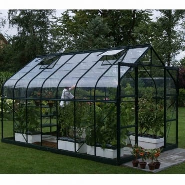 Saturn Green Framed Greenhouse 8X14