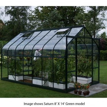Saturn Green Framed Greenhouse 8X6